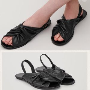 COS - Knotted Sling Back Sandal Sides, 9